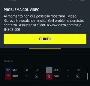 Dazn, problemi tecnici durante Lazio-Cagliari e Verona-Roma