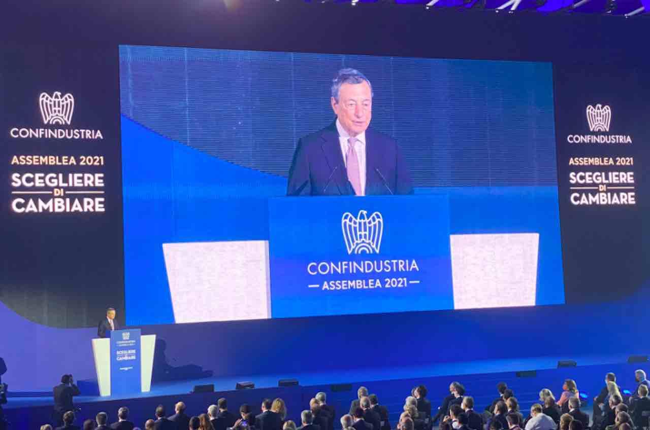 Intervento di Draghi all'Assemblea Confindustria