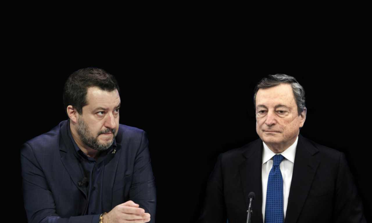 Mario Draghi Matteo Salvini Palazzo Chigi